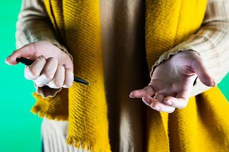 Met je handen praten met pen