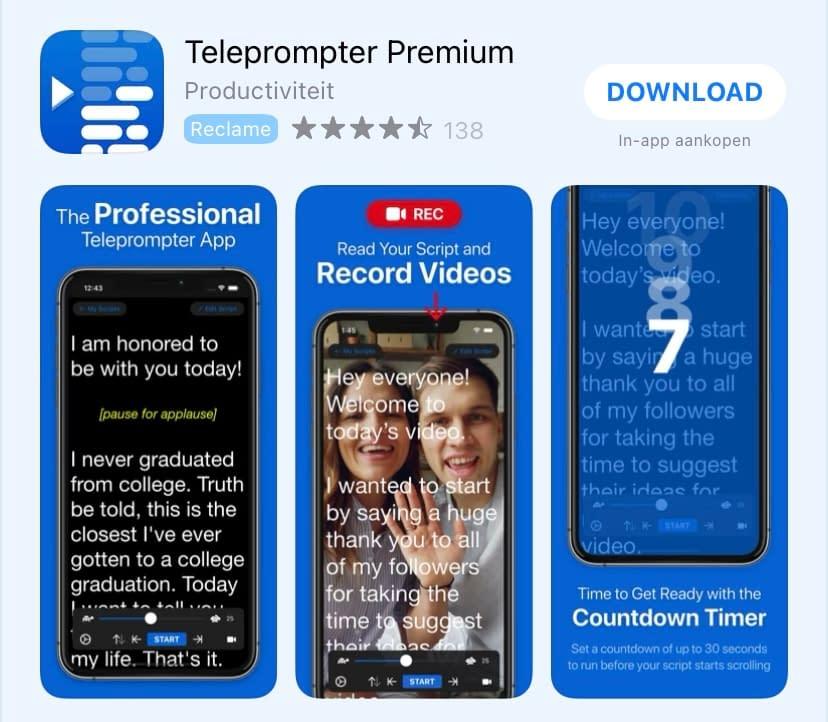 teleprompter premium